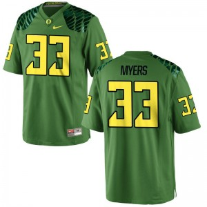 Oregon Ducks Dexter Myers Jerseys Youth Small Limited Youth - Apple Green