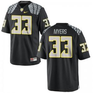 Oregon Dexter Myers Limited Youth(Kids) Jerseys Large - Black