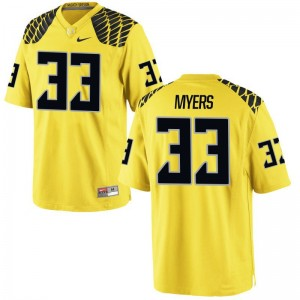Dexter Myers Youth Gold Jersey Youth Small Oregon Limited
