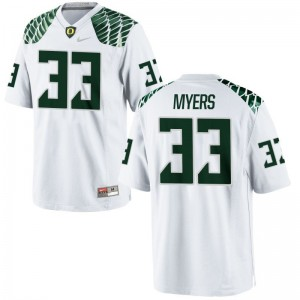 Youth(Kids) Dexter Myers Jerseys Youth Large Oregon Ducks Limited White