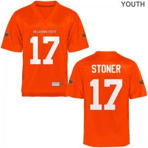 Dillon Stoner Oklahoma State Jersey Medium For Kids Orange Limited