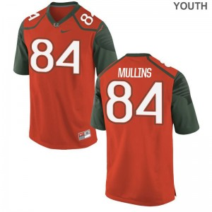 Miami Hurricanes Dionte Mullins Jerseys Youth Large Limited Kids Orange