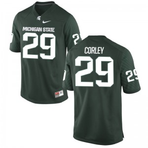 Michigan State University Limited Youth(Kids) Green Donnie Corley Jerseys Youth X Large