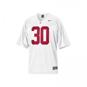 Bama Dont'a Hightower Jerseys X Large For Kids Limited - White