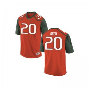 Miami Ed Reed Jerseys Men Large Mens Orange_Green Limited