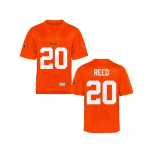 University of Miami Ed Reed Jersey Youth X Large Limited Kids Jersey Youth X Large - Orange