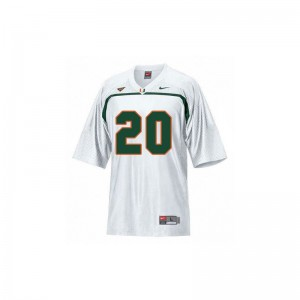 University of Miami Ed Reed Jerseys Youth Medium White Limited Youth(Kids)
