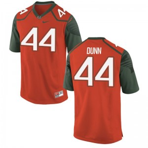 Eddie Dunn For Men Jersey Mens XXXL Orange Miami Hurricanes Limited