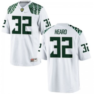 Ducks Eddie Heard Jerseys Mens Small Men Limited - White
