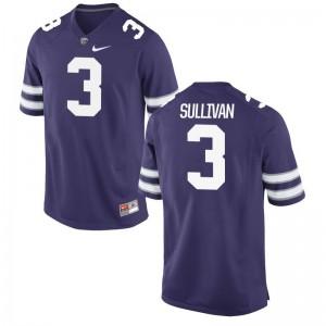 Elijah Sullivan Jerseys Men XXXL Kansas State Wildcats Mens Limited - Purple