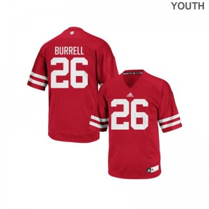 Eric Burrell Jersey Wisconsin Badgers Red Authentic For Kids Jersey