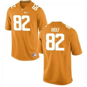 Men Ethan Wolf Jerseys Official Orange Limited Tennessee Vols Jerseys