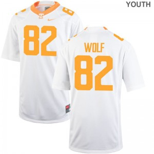 Ethan Wolf UT Jerseys Youth Small Limited For Kids - White