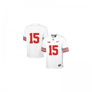 OSU Official Ezekiel Elliott Limited Jerseys White Diamond Quest Patch For Kids