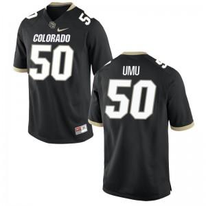 Mens Limited Colorado Buffaloes Jerseys Frank Umu Black Jerseys