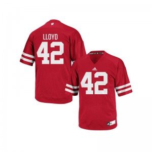 Wisconsin Badgers Authentic Red Youth(Kids) Gabe Lloyd Jersey Youth Large