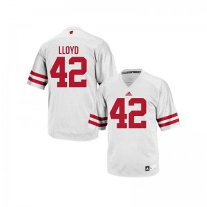 Gabe Lloyd Youth(Kids) White Jersey Youth Small Wisconsin Authentic