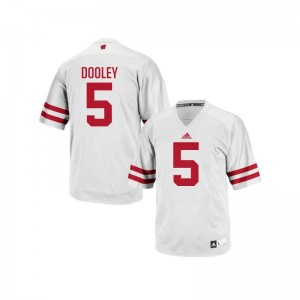 University of Wisconsin Garret Dooley Jersey White Men Authentic