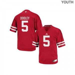University of Wisconsin Garret Dooley Jerseys Youth XL Red Authentic Youth
