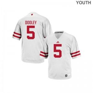 Garret Dooley Wisconsin Badgers Replica Youth(Kids) Jersey S-XL - White