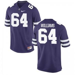 Glenn Williams Men Jersey Large K-State Limited - Purple