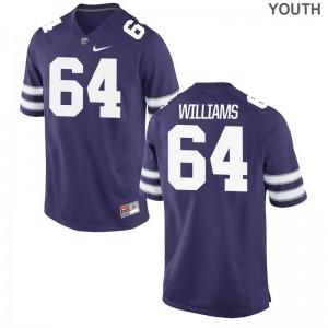 XL KSU Glenn Williams Jerseys Youth Limited Purple Jerseys