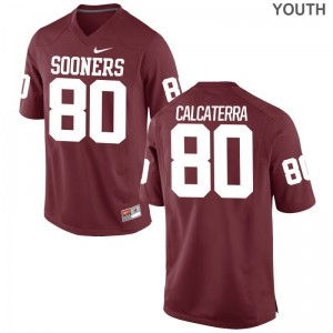 Grant Calcaterra OU Sooners Jersey Youth X Large Limited Youth Jersey Youth X Large - Crimson