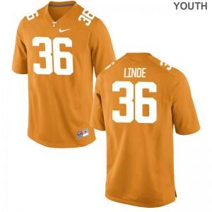 Grayson Linde Vols Jerseys Large Youth(Kids) Limited Jerseys Large - Orange