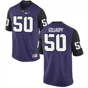 Kids Harrison Gillaspy Jerseys Youth X Large TCU Purple Black Limited