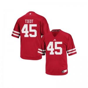 Authentic Wisconsin Badgers Hegeman Tiedt For Men Red Jerseys S-3XL