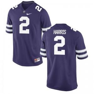 Kansas State Isaiah Harris Limited Mens Stitch Jersey - Purple