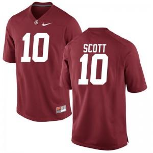 Bama JK Scott Jerseys Large Limited Men Jerseys Large - Red