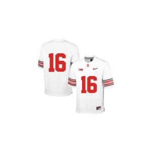 J.T. Barrett OSU Buckeyes Jerseys Youth X Large Limited Youth(Kids) White Diamond Quest Patch