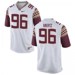 JT Mertz FSU Jersey Men Small Limited Mens - White