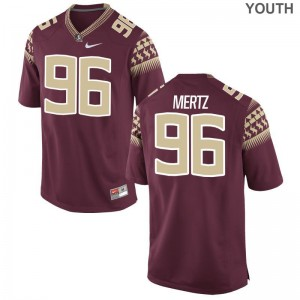 Limited Youth FSU Jerseys Youth Small JT Mertz - Garnet