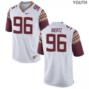 JT Mertz Youth(Kids) Jerseys Small Limited FSU Seminoles - White