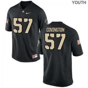 Jacob Covington Jerseys Army Black Knights Black Limited Youth(Kids) Jerseys
