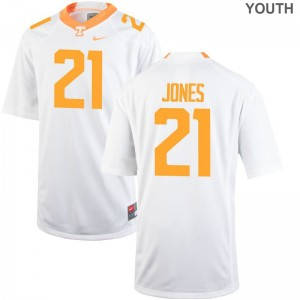 Jacquez Jones Youth(Kids) Jerseys Youth Large Limited Tennessee Volunteers White