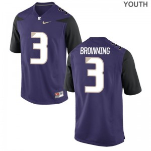 Jake Browning Kids Purple Jersey XL University of Washington Limited