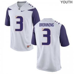 Washington Jake Browning Jerseys Youth Medium Limited For Kids White
