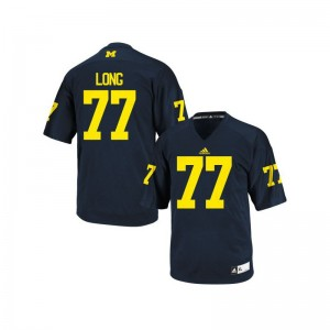 Jake Long Michigan Wolverines Jerseys 2XL Limited Navy Blue Mens