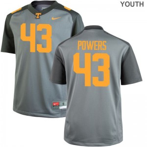 Tennessee Volunteers For Kids Limited Gray Jake Powers Jersey X Large