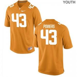 Tennessee Volunteers Jake Powers Jerseys Youth Medium Kids Limited Orange