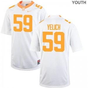 Vols Jake Yelich Limited Youth Jerseys Small - White