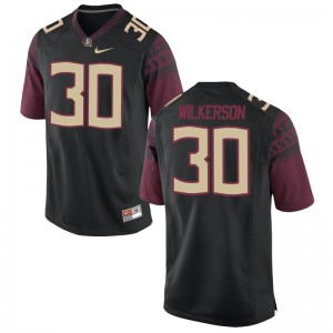Jalen Wilkerson For Men Black Jerseys 2XL Seminoles Limited