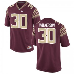 Jalen Wilkerson Jerseys Florida State Garnet Limited Mens Embroidery Jerseys