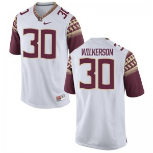 Limited Jalen Wilkerson Jersey Mens Medium For Men FSU Seminoles - White