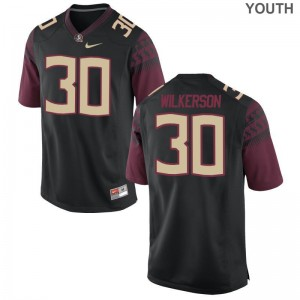 For Kids Jalen Wilkerson Jerseys Black Limited Florida State Seminoles Jerseys