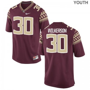 Florida State Kids Limited Garnet Jalen Wilkerson Jerseys Youth Medium