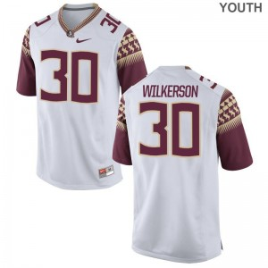 Limited Kids Florida State Seminoles Jerseys Medium of Jalen Wilkerson - White